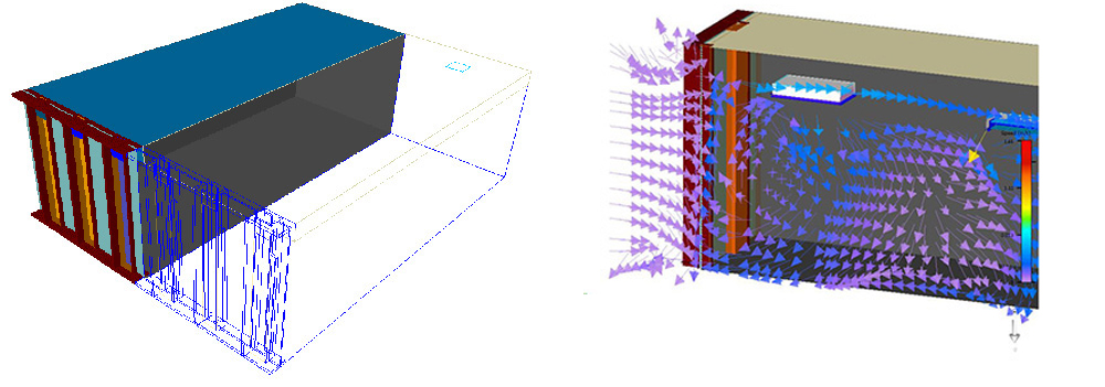 Breathable facade, Chilled beam, fan assisted air movement Ecodynamis